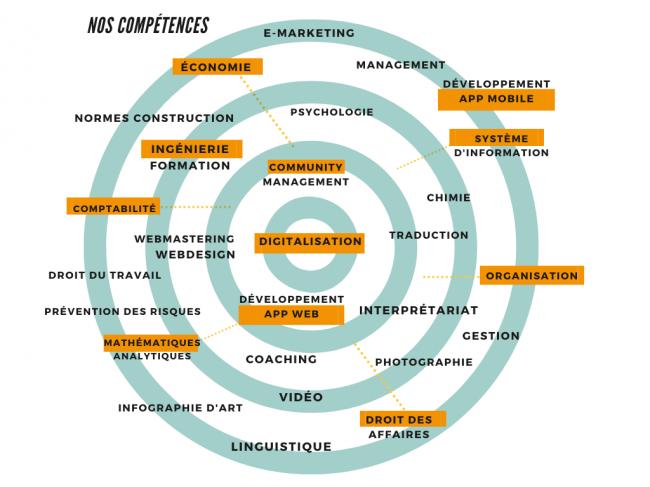 RDV Partners - Diagramme des compétences